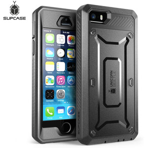 Image 1 - SUPCASE עבור iPhone SE 5 5S מקרה UB פרו מלא גוף מוקשח נרתיק קליפ מגן כיסוי עם מסך מובנה מגן מקרה