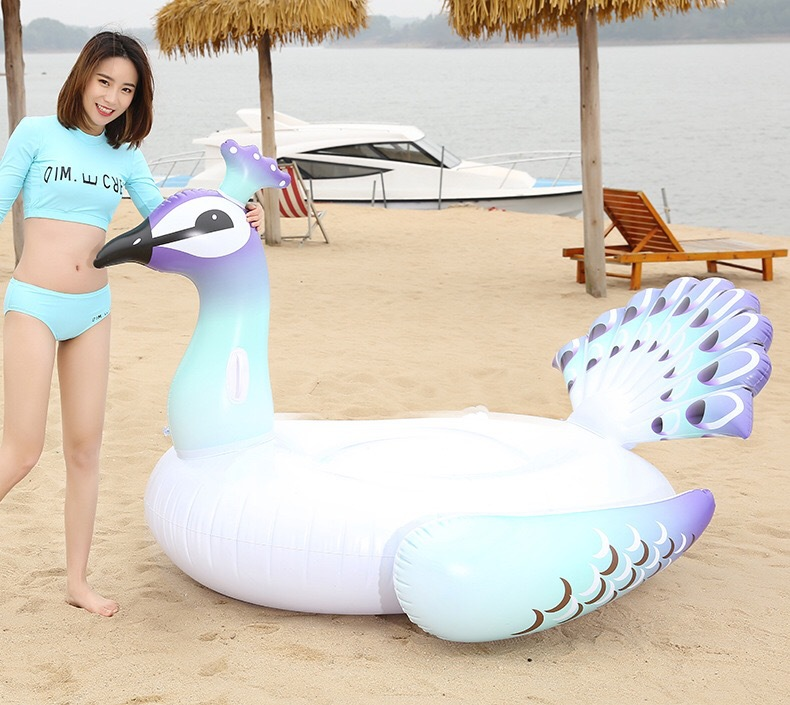 Inflatable Flamingos Swimming Ring Giant Pool Float Toy Water Mattress Lifebuoy Swimming Circle Adult Beach Party Sea swim laps