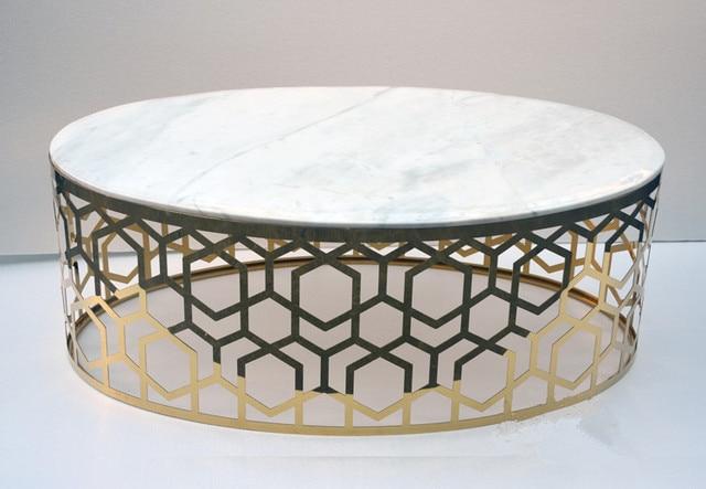 Die Neue Oval Couchtisch Marmor Sofa Ein Paar Tea Geschnitzte