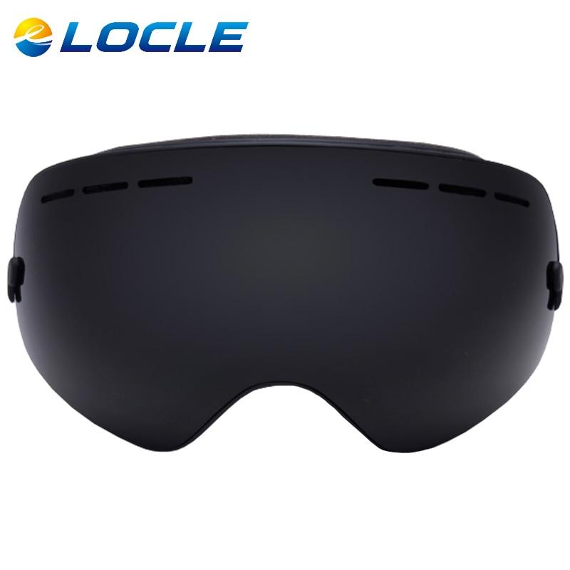 LOCLE Spherical Ski Goggles Anti fog Double Layers UV400 Big Ski Mask Snowboard Goggles Professional font