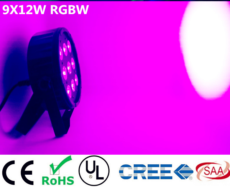 где купить 9x12W RGBW 4IN1 Eyourlife DJ Disco Lighting Par Led RGBW Stage Par Light DMX Controller Party Disco Bar Strobe Dimming Effect по лучшей цене