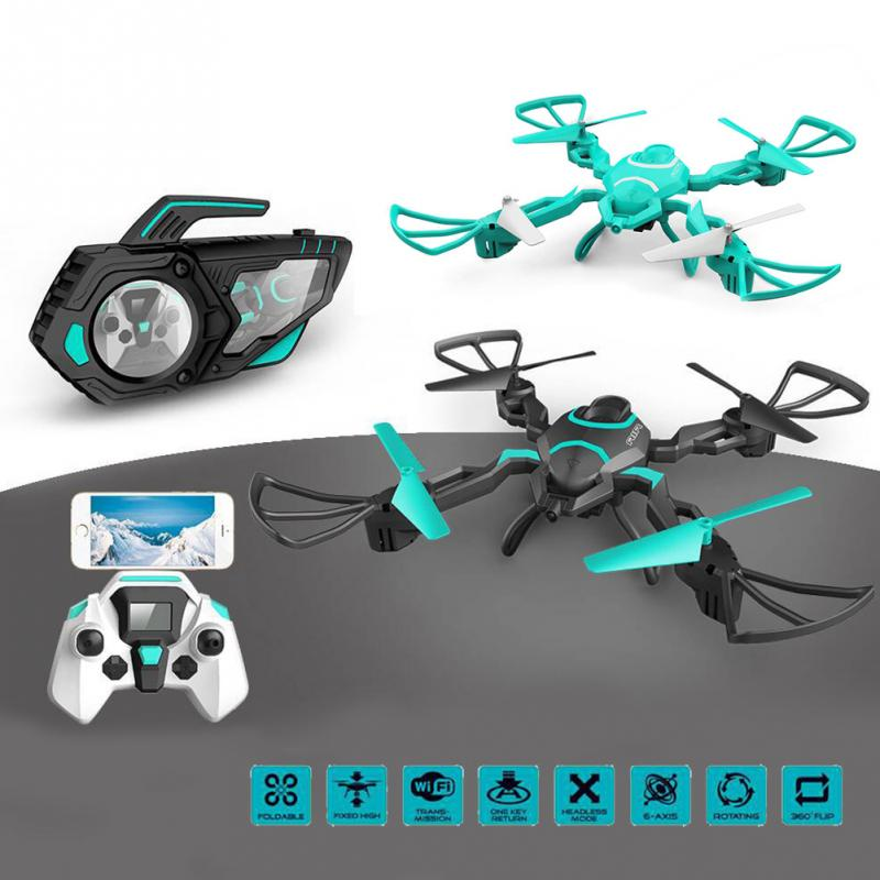 New aerial drone 2.4G 4CH 6-Axis 40cm big Rc Foldable Drone With 720p HD Camera Wifi FPV Quadcopter Colorful Light vs H37 dobby newest apple shape foldable wifi fpv rc drone rc130 2 4g apple quadcopter with 6axis gryo with 720p wifi hd camera rc drones
