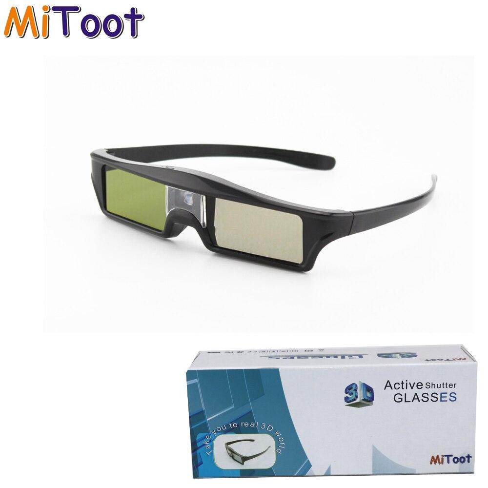 MiToot 4 pcs Lunettes à Obturateur Actif DLP-LINK 3D lunettes pour Xgimi Z4X/H1/Z5 Optoma Forte LG Acer h5360 Jmgo BenQ w1070 Projecteurs