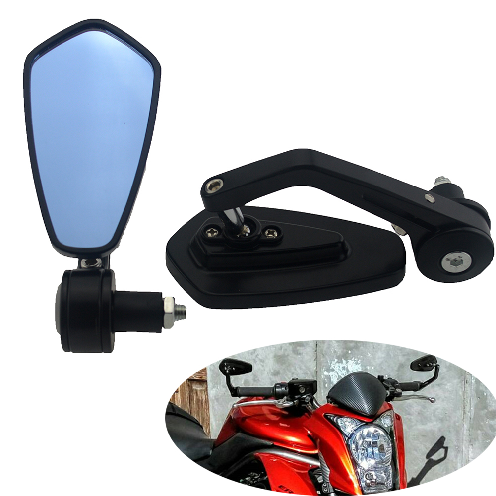 """Motorcycle Motorbike Handle Bar End Side Mirrors 7//8/"""" 22mm For Cafe Racer Custom"""