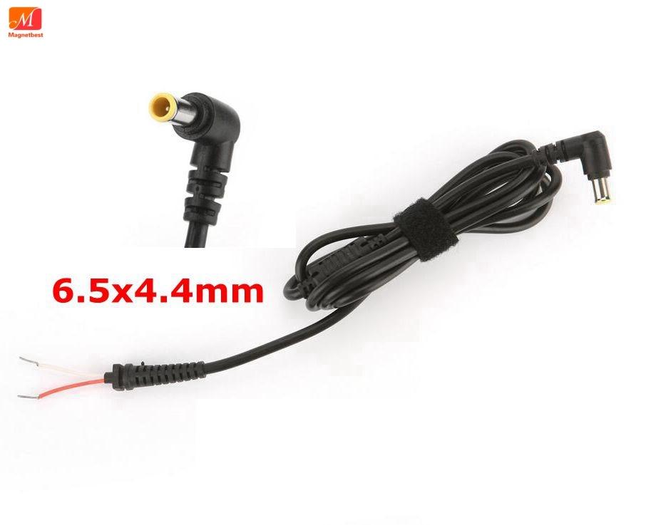 10 Unids/lote 6,5x4,4mm Con Cable De Alimentación Conector Dc Pin Para Sony Laptop Ac Adaptador Cargador 6,5 * 4,4mm Cable De Dc En Venta
