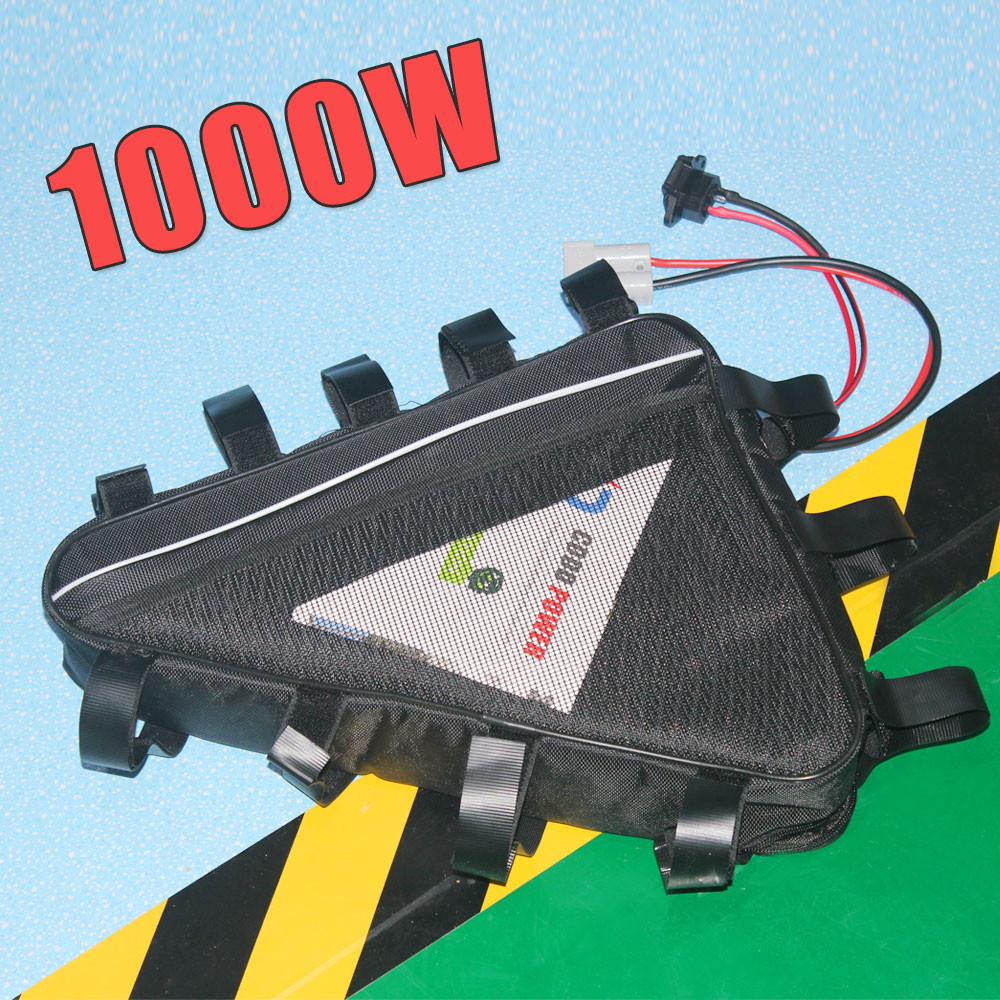 triangle <font><b>battery</b></font> <font><b>48v</b></font> electric bicycle <font><b>1000W</b></font> motor image