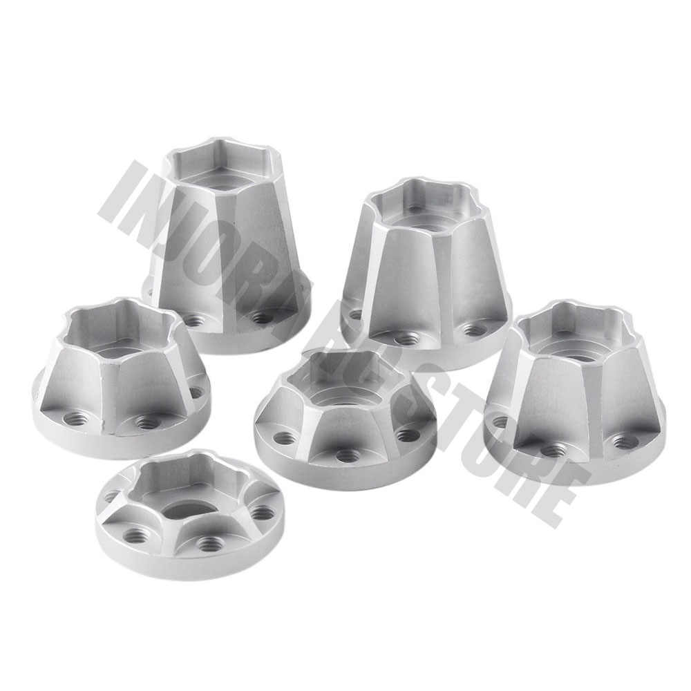 2 stuks Aluminium 12 MM Wiel Hex 1.9 2.2 Velg Hub voor 1/10 Traxxas TRX4 Axiale SCX10 D90 CC01 RC Crawler Auto