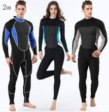 MYLE GEND 2MMDiving Suits Men Wetsuit Long Sleeve Full Suit Premium Neoprene Mens One Piece Wet Scuba Spearfishing