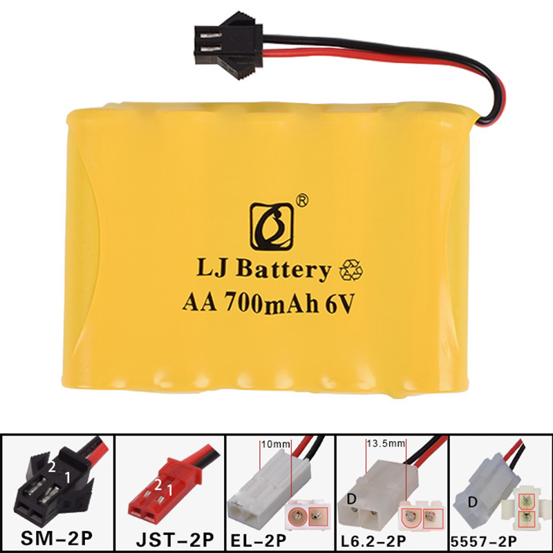 6v 700mah AA NI-CD M Battery Electric toys car ship robot rechargeable AA 6v 6.0v 700 mah Battery
