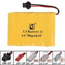 6v 700 mah aa NI-CD m bateria elétrica brinquedos carro navio robô recarregável aa 6v 6.0v 700 mah bateria