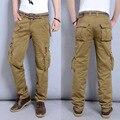 Плюс размер 28-40 мужская Брюки-Карго Повседневные Мужские Брюки Мульти Карман грузов брюки Мужчины Длинные брюки CL0181