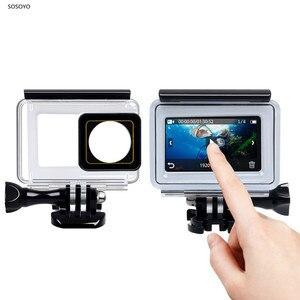Image 1 - 터치 스크린 방수 케이스 수중 35m 다이빙 보호 쉘 하우징 Xiaomi 이순신 4K 2 II 액션 카메라 액세서리
