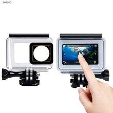 Dokunmatik ekran su geçirmez kılıf sualtı 35m dalış koruyucu kabuk konut Xiaomi Yi 4K 2 II eylem kamera aksesuarları