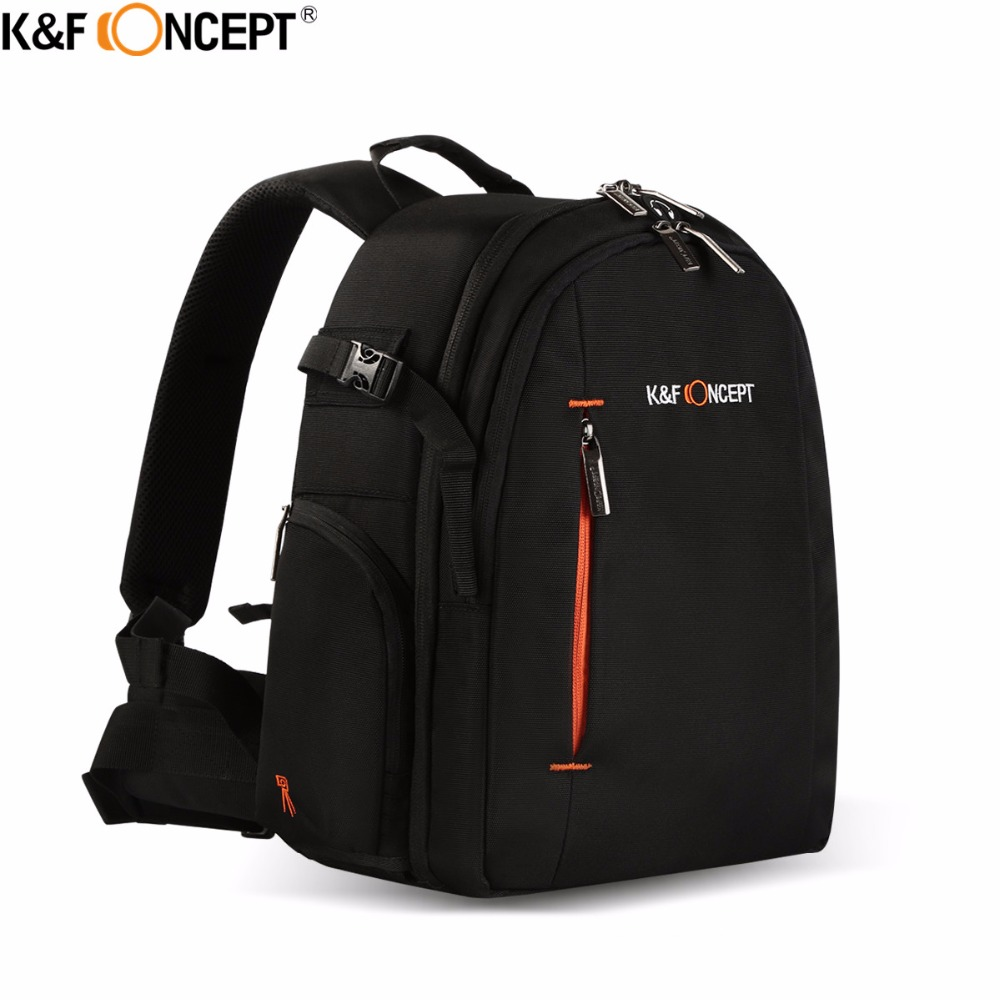 K&F CONCEPT Camera Backpack Waterproof Multi-function Travel Bag Lens Case With Anti-theft Zip Hold DSLR Tripod Exquisite Design
