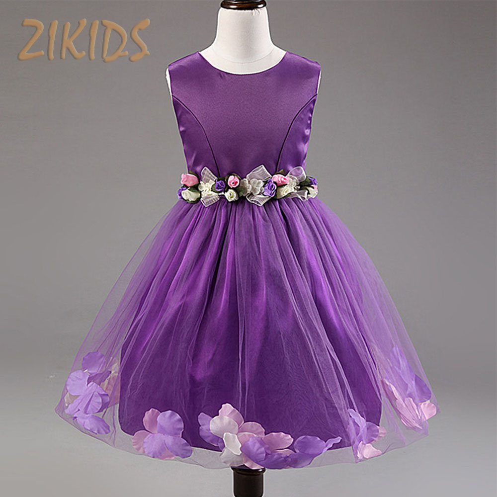 Flowers girl dresses baby kids summer clothes for birthday for Summer dresses for wedding party
