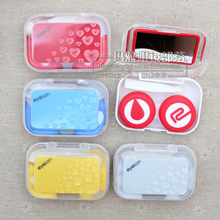 New eyekan water vacuole contact lens case cute plastic lenses box for eyes AM8090(China (Mainland))