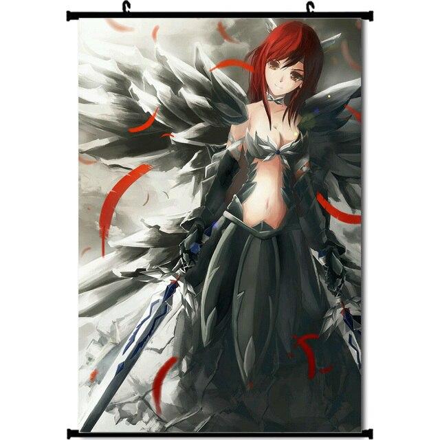 Аниме плакат гобелен шелковый Хвост феи Эльза