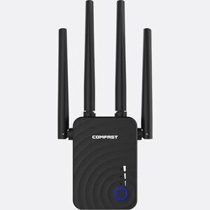 Image 3 - Double bande sans fil répéteur Wi Fi Extender 1200Mbps WIFI répéteur routeur Point daccès avec 4 antennes externes Comfast CF WR754