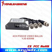 Free Shipping Wholesale 4 ch passive Video Transceiver  RJ45 and BNC Video Balun for CCTV