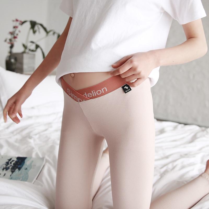 Новый для беременных Штаны Брюки для беременных Одежда для беременных ткачество упругие кормления низкой талией для беременных женщин лег... ...