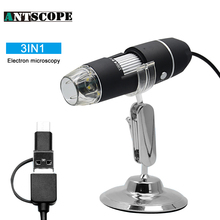 On sale Antscope 3IN1 Digital Microscope 8 LED Multple Adjstment 1000X Android USB Type C Endoscope Camera Magnifier Video Camera Stand