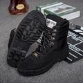 2017 nova venda preto sola de borracha Robôs Militares swat botas com botas botas militares do exército Camuflagem verde cor amarela