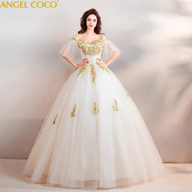 Luxury Maternity Wedding Dresses Gold thread embroidery Bride Dresses For  Pregnant Women Vestidos De Novia Pregnancy 7ebdae46bb38