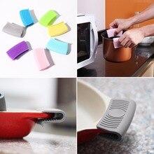 Силиконовая теплоизоляционная перчатка для печи, кастрюля, кастрюля, держатель для горшка, устойчивая ручка для духовки, зажим для горшка, кухонные аксессуары