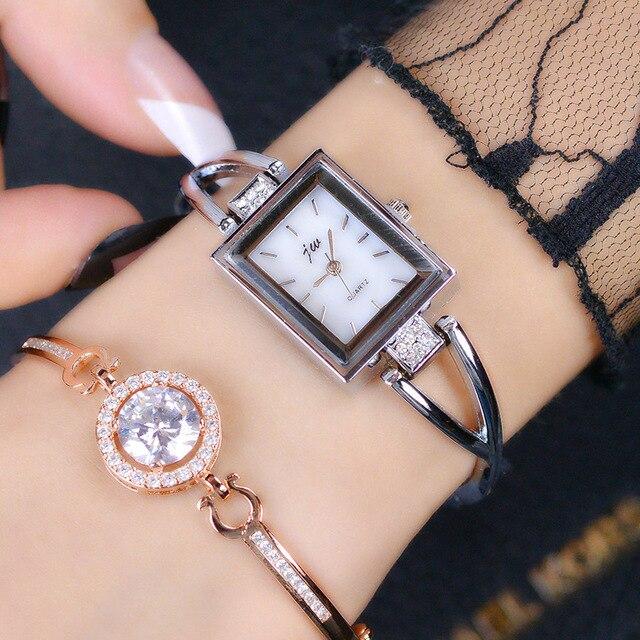 2017 JW Brand Women Bracelet Watches Luxury Gold Stainless Steel Wristwatches La