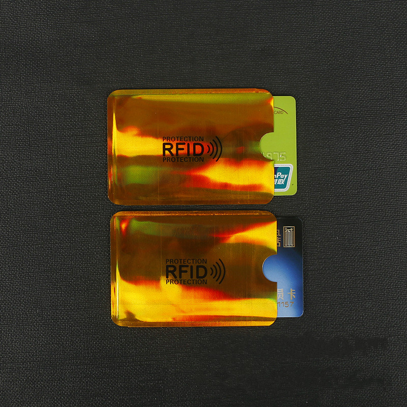 10 Pcs Colorful Anti-Scan Card Sleeve Credit RFID Card Protector Anti-magnetic Aluminum Foil Portable Bank Card Holder