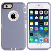 Shockproof Skin Case Cover W Build In Screen Protector For IPhone 6 4 7 Plastic Rubber