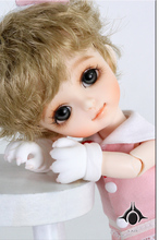 flash sale!free shipping!free makeup&eyes!top quality bjd 1/8 baby doll lati Byurl Basic pink cat cute yosd hot toy kids