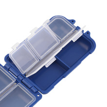 Fishing Tackle Box 10 Compartments Storage Case Fly Fishing Lure Spoon Hook Bait Tackle Case Box Fishing Accessories Tools Newly