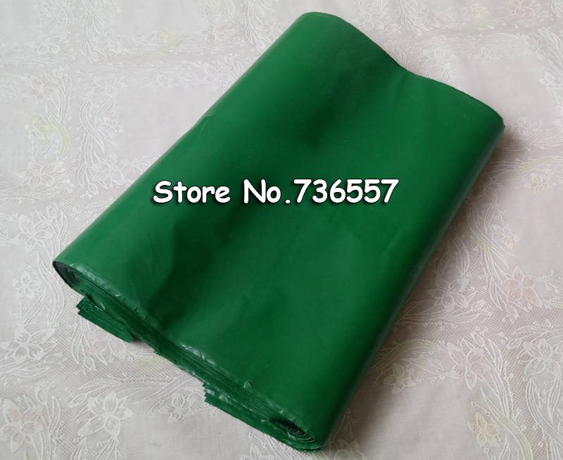 100pcs 25*35cm Green Poly Mailer Plastic Shipping Mailing Bag Envelopes Polybags Strong Plastic Seal Postage Bags Free Shipping