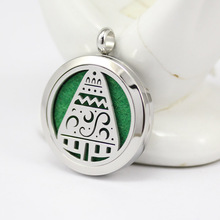 5pcs Wholesale diffuser locket necklace silver magnetic 30mm 316l stainless steel perfume