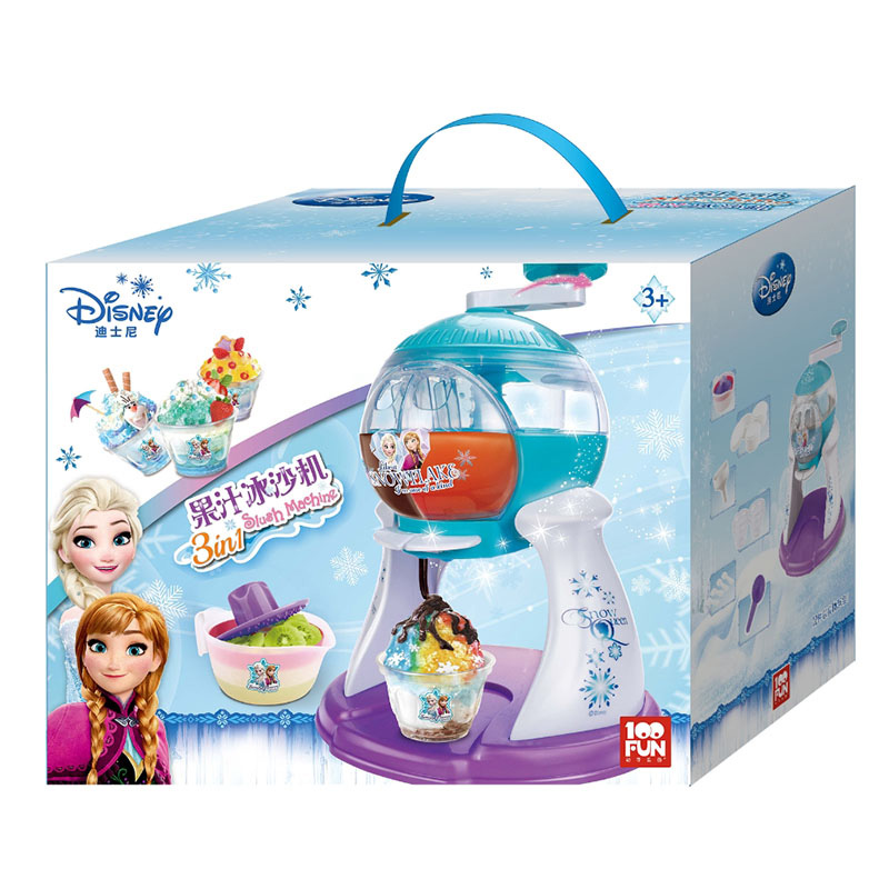 100FUN Children's Smoothie Machine Toy Ice Romance Princess Fruit Shaved Ice Machine Handmade Food Making Smoothie Machine ice crusher summer sweetmeats sweet ice food making machine manual fruit ice shaver machine zf