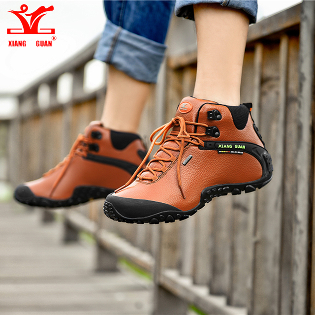 Brand XIANGGUAN Hiking Shoes Man Sneakers Women Climbing Shoes Athletic Waterproof Breathable Travelling Anti-skid Outdoor shoe