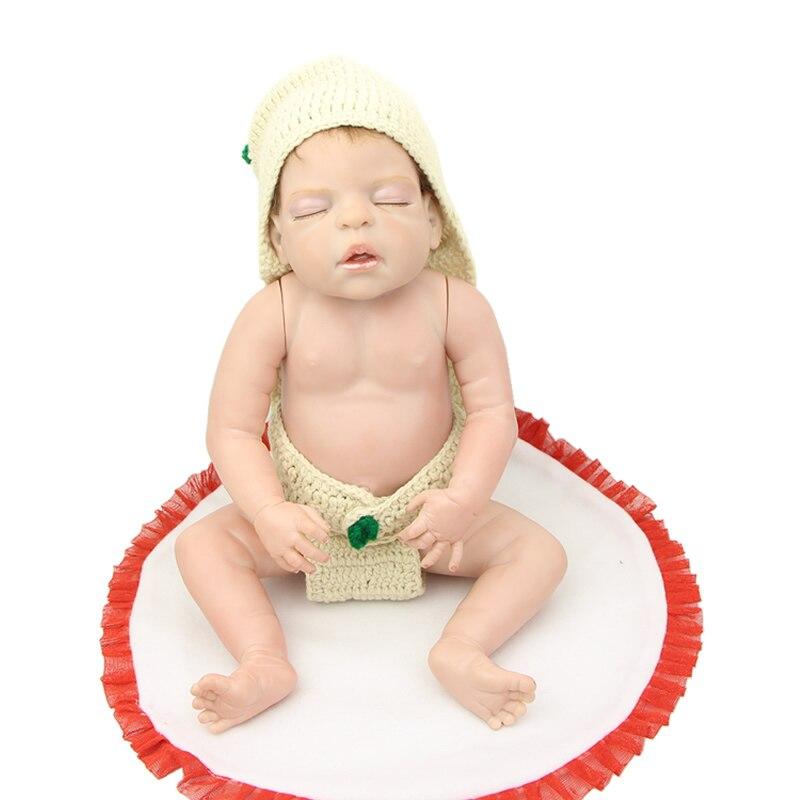 22 Inch Reborn Babies Boy Full Body Silicone Vinyl Realistic Sleeping Newborn Boys Babies Toy Christmas
