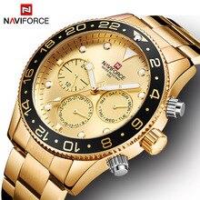 NAVIFORCE Heren Horloge Staal Luxe Horloge mannen Quartz Horloges mannen Horloges Luxe Waterdichte Mannelijke Klok mannen Pols horloge