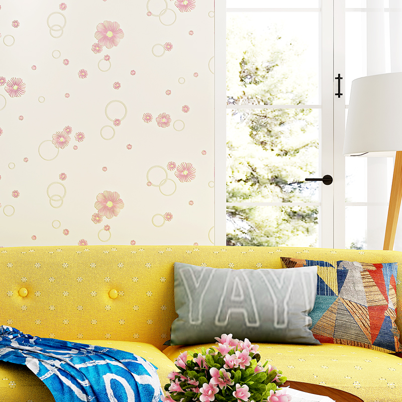 Modern Rustic Floral 3D Wallpapers Embossed Texture Non Woven Wall Paper For Bedroom Living Room Girls Room Wallpaper For Walls damask wallpaper for walls 3d wall paper mural wallpapers silk for living room bedroom home improvement decorative
