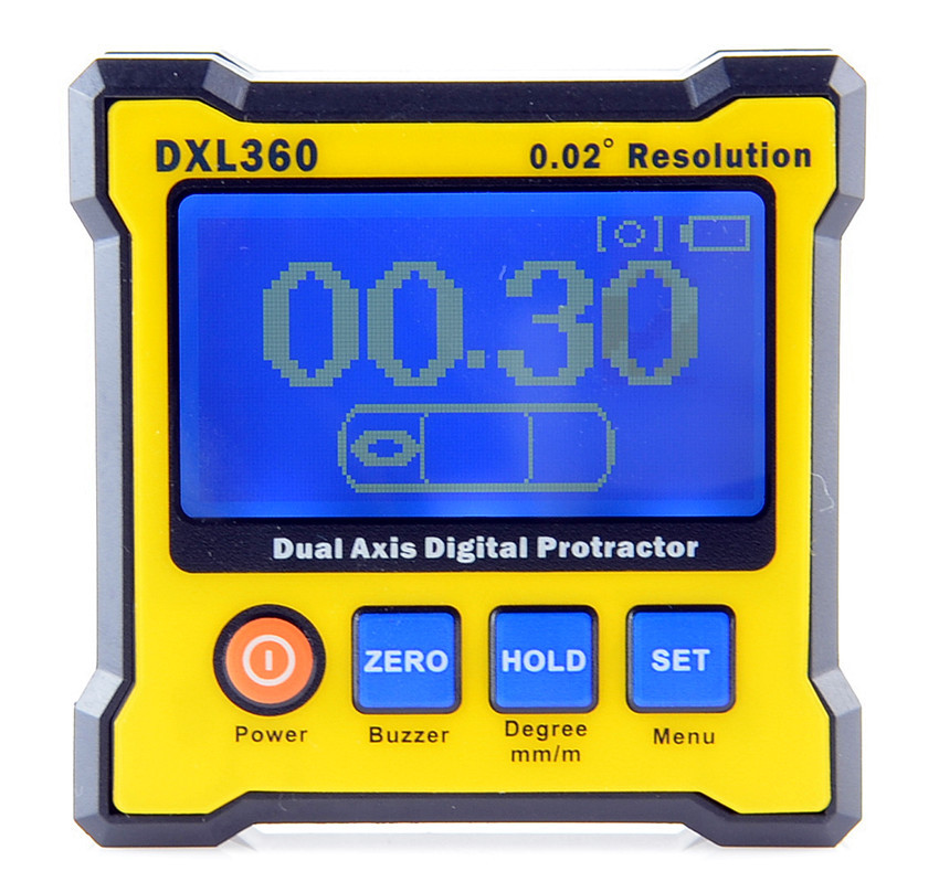 Free shipping,,High-Precision Digital electronic level inclinometer angle feet 360 / s 0 225 degree digital angle level meter gauge 400mm 16inch electronic protractor free shipping