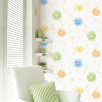 baby Rustic small flower eco-friendly pvc wallpaper child room wall stickers tv wall background wall paper waterproof home decor creative flower pattern tv background 60 90cm pvc wall stickers