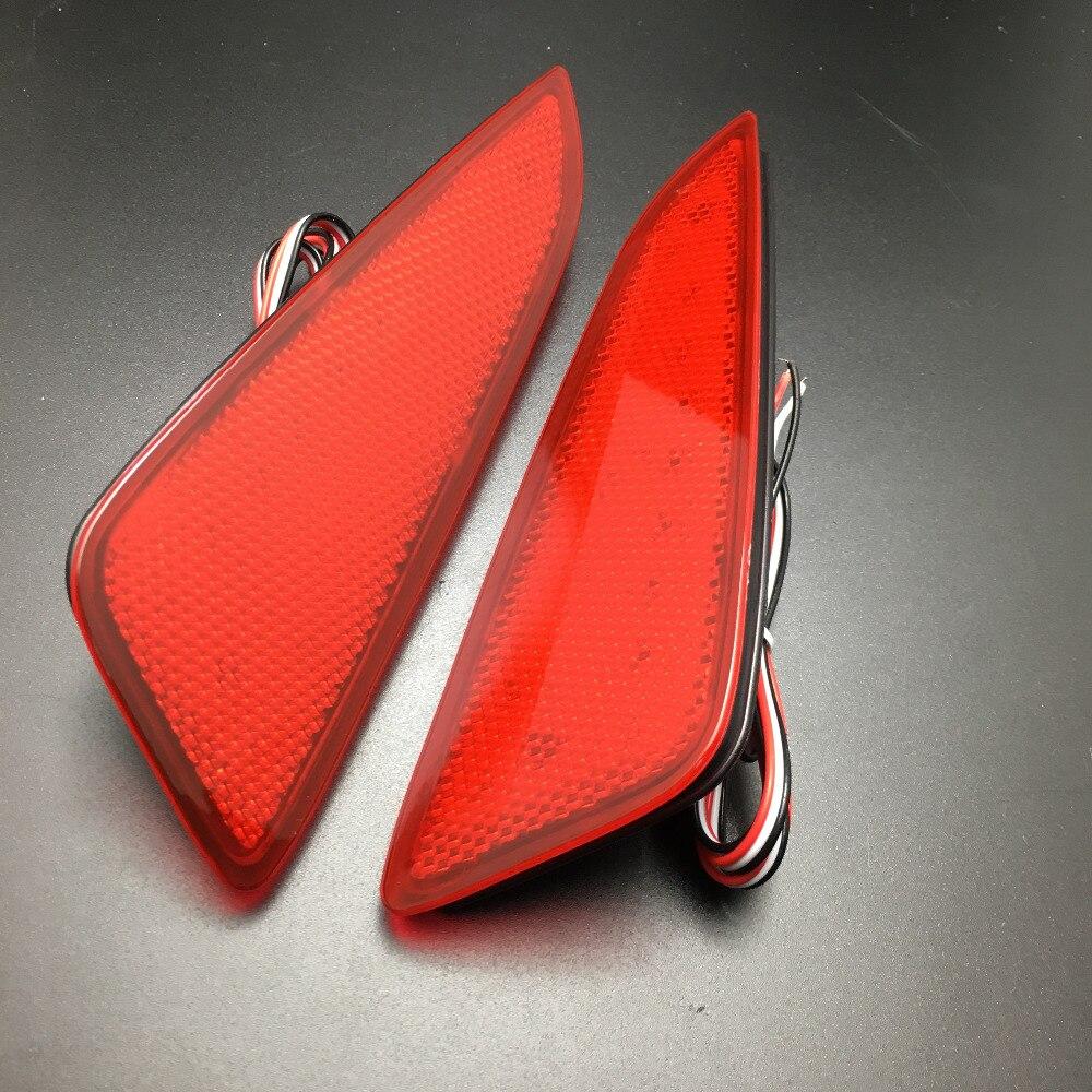 Стайлинга автомобилей для Toyota с-HR 16-17 ABS пластик заднего бампера светодиодные ReflectorStop тормоз Противотуманные фары