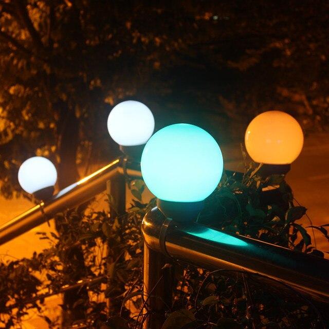 Pearsltar Lampes Pelouse Panneau Solaire Couleur Extérieur Sangles Led Décorations Solaires Jardin Éclairage Paysage Dégradé Sphériques OPk8n0w
