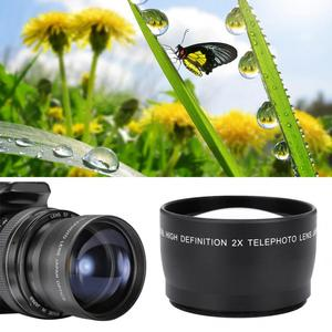 Image 4 - 2X 58mm Telephoto Lens High Definition Camera Telephoto Lens Optics Teleconverter For Cameras Accessories