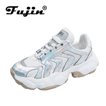 Fujin Brand 2019 New Spring Shoes Women Casual Sneakers Fashion Popular Old Dad Platform Breathable Summer