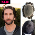 """100% European virgin human hair toupee for men with SOFT THIN Super Swiss lace, 10"""" x 8"""" Straight hair pieces for men from NLW"""