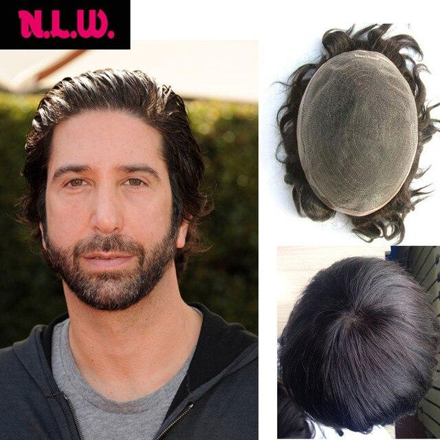 100 European Virgin Human Hair Toupee For Men With Soft Thin Super