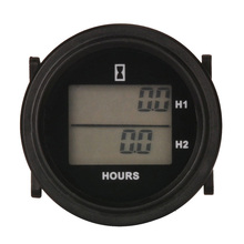 LCD DC 8-48V snap on Double hour meter for diesel generator lawn mower marine tractor outboard motor FORKLIFT aerator turf ATV