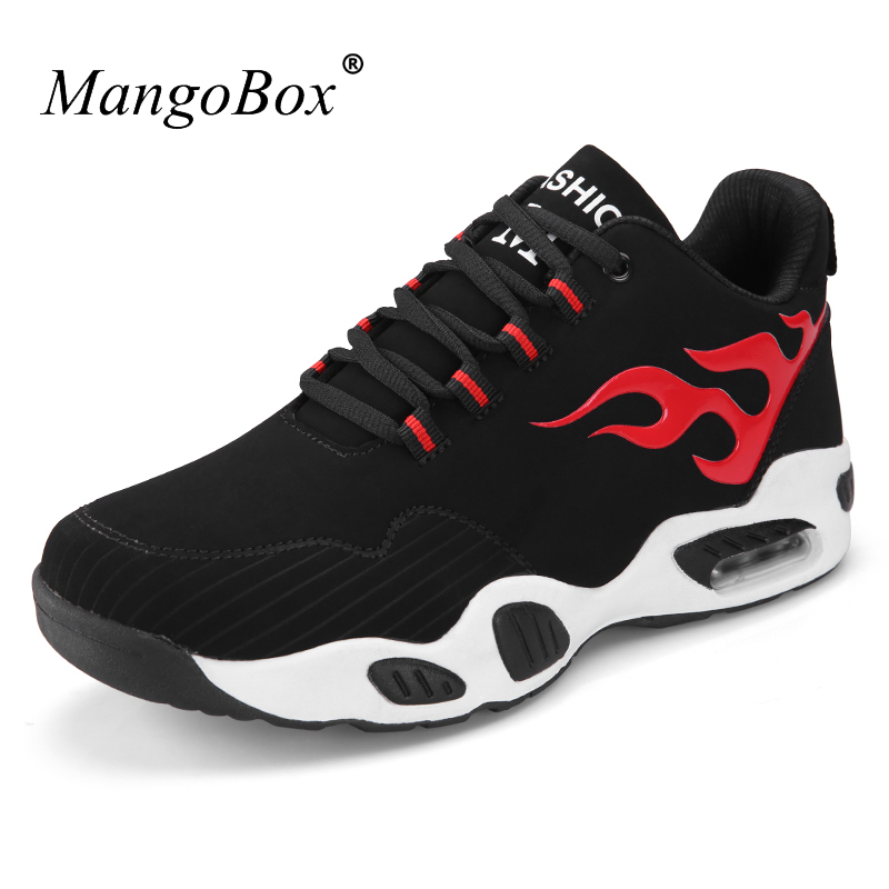 Mangobox 2017 Spring Autumn Men Sneakers Men Trainers Comfortable Running Shoes Black Red Men Athletic Sneakers Air Runners